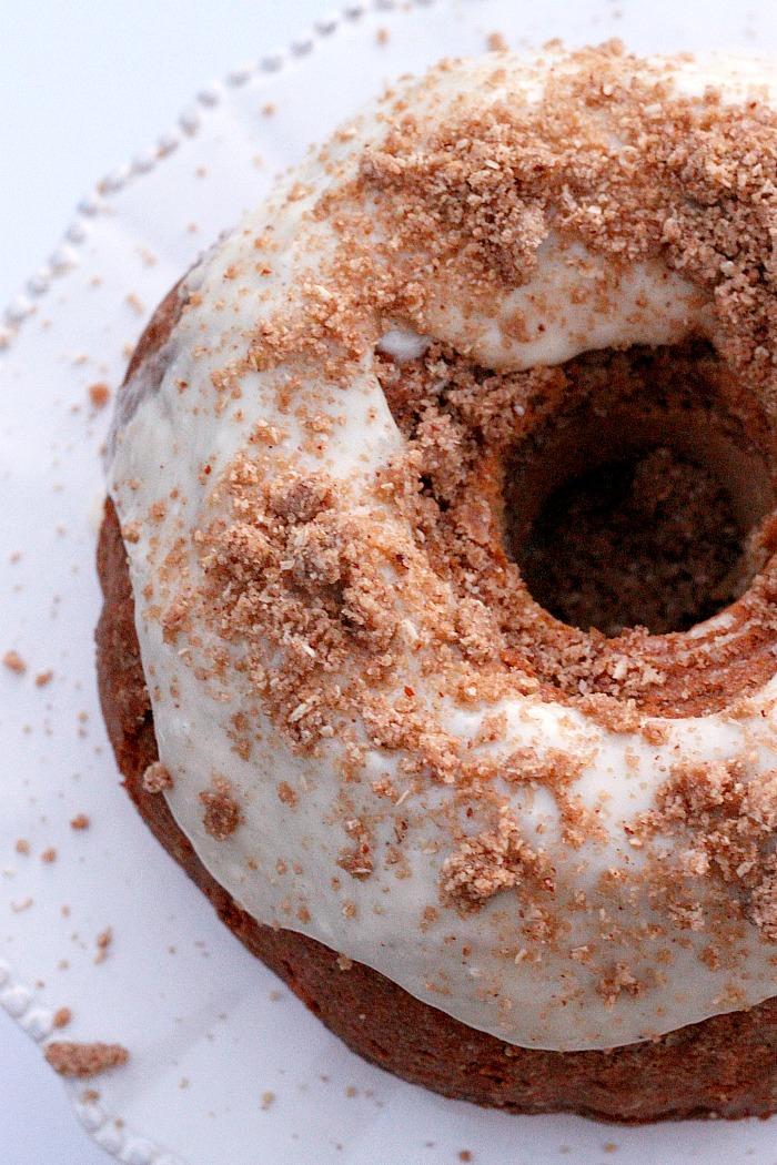 Glazed Eggnog Coffee Cake with Pecan Oat Streusel | Fabtastic Eats