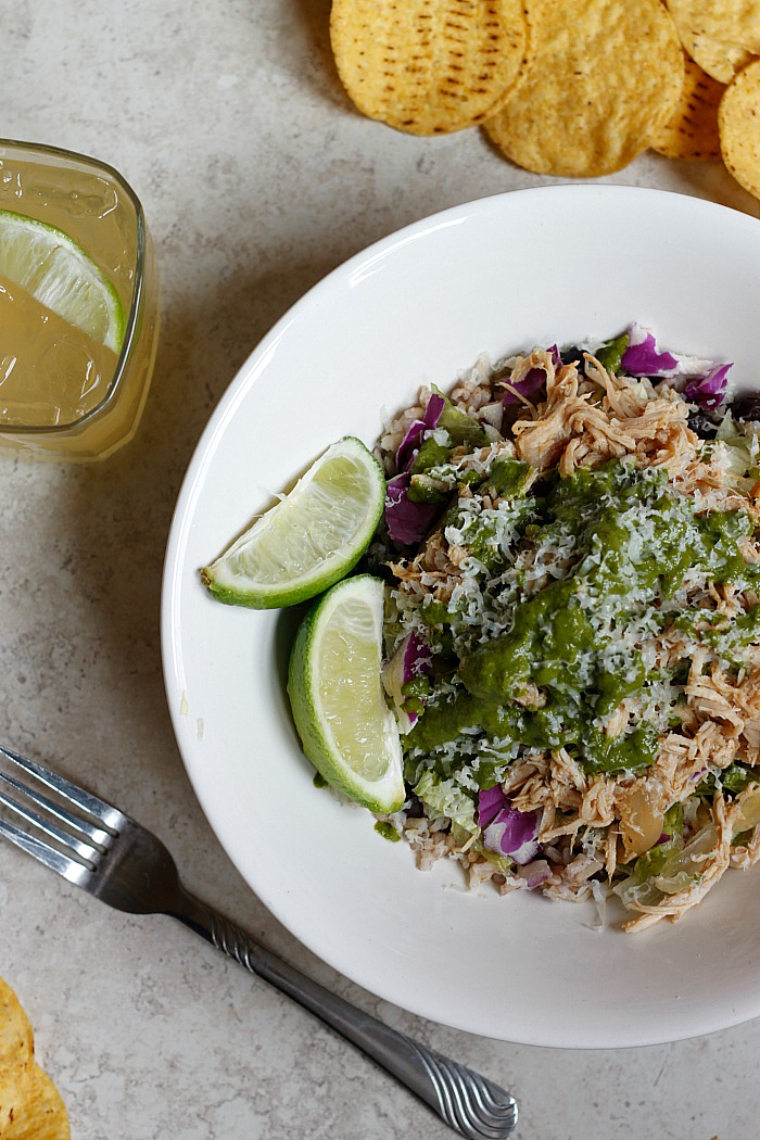 Pork Carnitas and Chimichurri Burrito Bowl | Fabtastic Eats