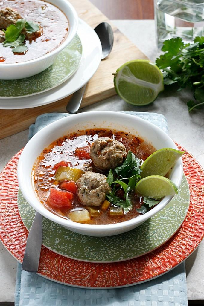 Mexican Meatball Soup | Fabtastic Eats