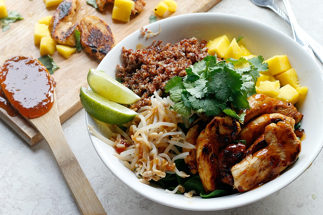 Thai Chicken Coconut Quinoa Bowls Belle Vie