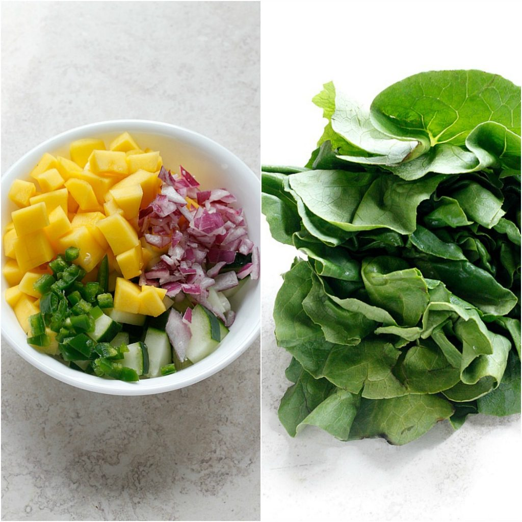 Hoisin Lime Pork Lettuce Wraps with a Cucumber Mango Salsa | Fabtastic Eats