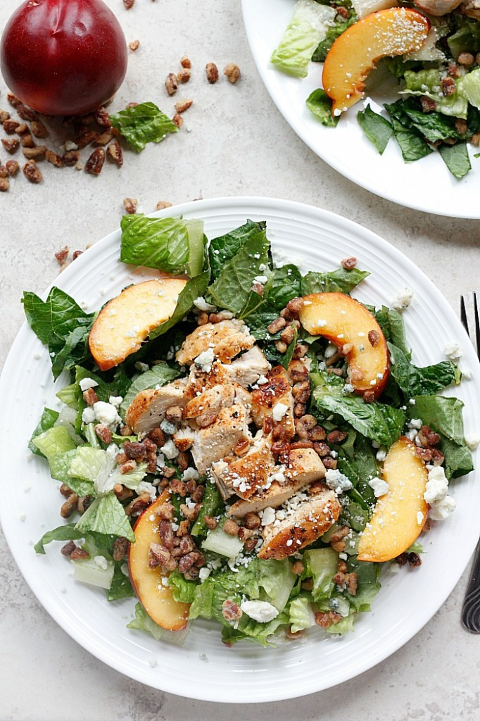 Chicken, Nectarine, and Gorgonzola Salad | Fabtastic Eats