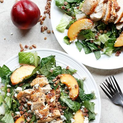 Chicken, Nectarine, and Gorgonzola Salad