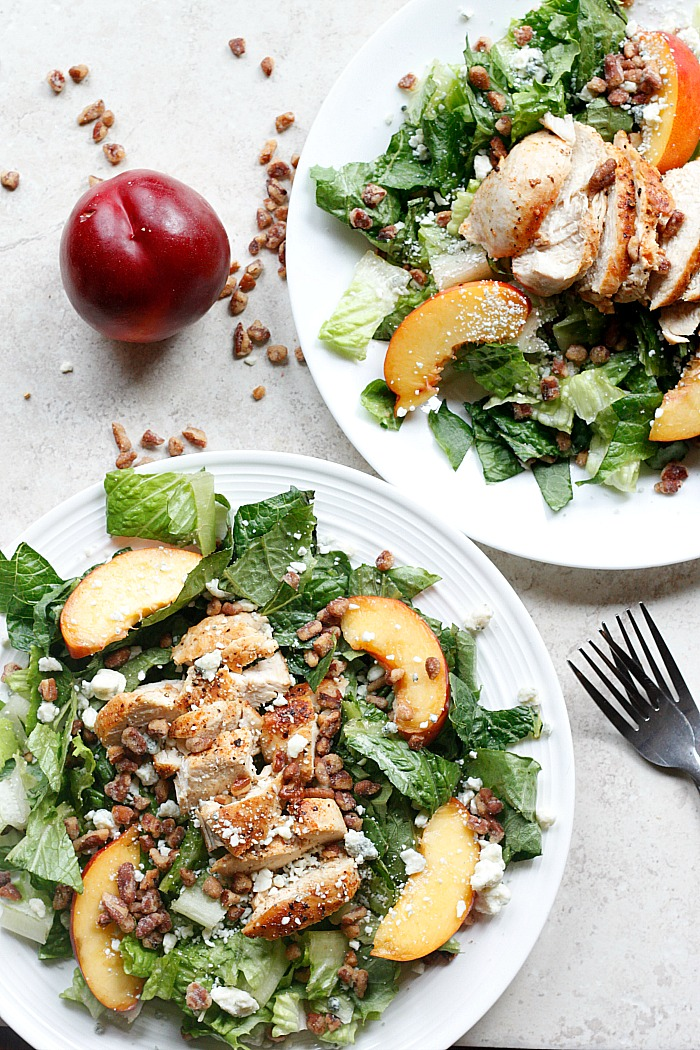 Chicken, Nectarine, and Gorgonzola Salad   Fabtastic Eats