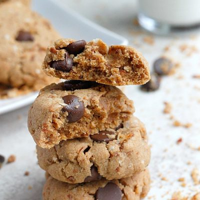 Coconut, Almond Butter, Mascarpone Chocolate Chip Cookies
