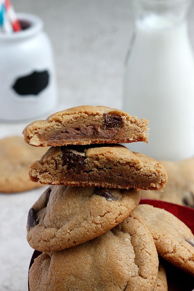 "HIMYM ""Sumbitch' Cookies (Peanut Butter, Chocolate, and Caramel Cookies)   Fabtastic Eats"