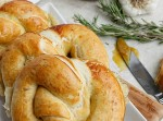 Roasted Garlic, Rosemary, and Cheddar Stuffed Pretzels | Fabtastic Eats