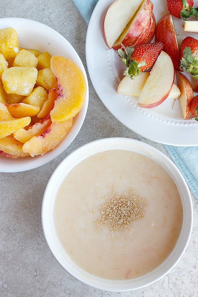 Grapefruit-Champagne Fruit Dip | Fabtastic Eats