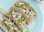 Crispy Tilapia Tacos with Spicy Cabbage Slaw and Pear-Kiwi Salsa | Fabtastic Eats