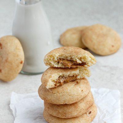Biscoff Stuffed Vanilla Bean Snickerdoodles