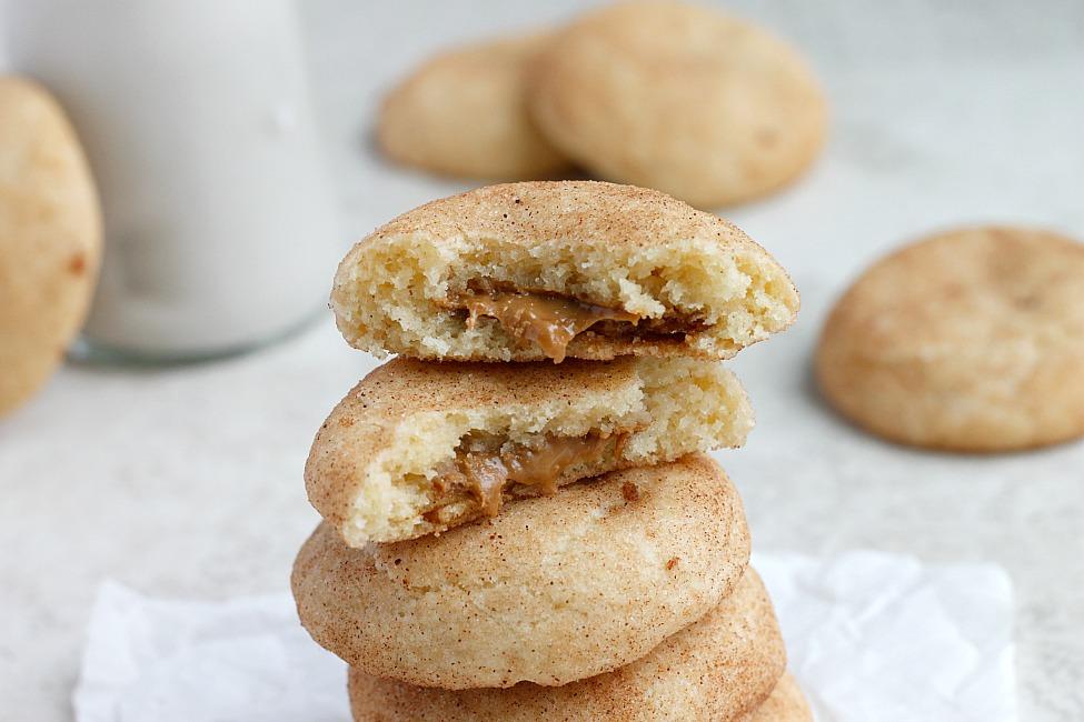 Biscoff Stuffed Vanilla Bean Snickerdoodles   Fabtastic Eats