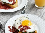 Two Cheese French Toast with Garlic Kale and Egg | Fabtastic Eats