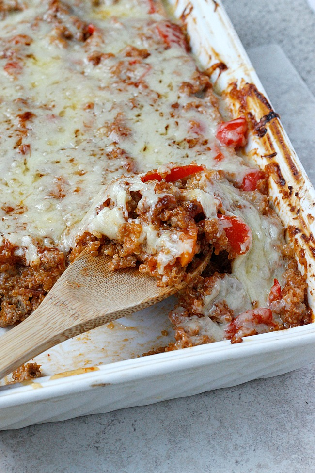 BBQ Chicken Quinoa Bake | Fabtastic Eats