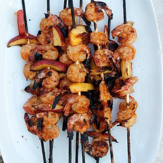Grilled Thai Shrimp and Peaches   Fabtastic Eats