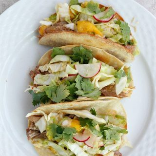 Thai Pork Tacos with Mango Radish Slaw   Fabtastic Eats