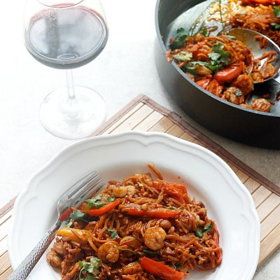 Spicy Chinese Shrimp and Sweet Potato Noodles