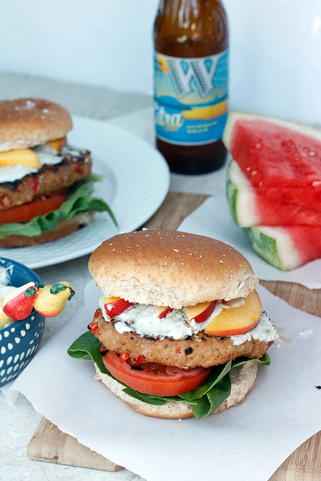 Hot and Sweet Turkey Burger with Whipped Blue Cheese   Fabtastic Eats