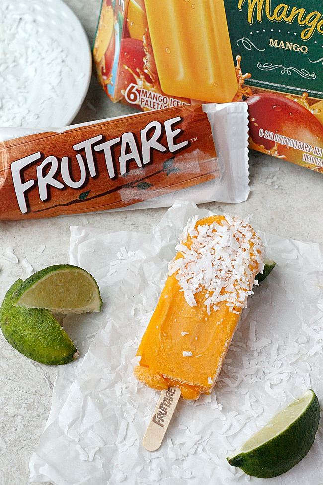 Fruttare Frozen Fruit Bars-Mango Lime Coconut! | Fabtastic Eats