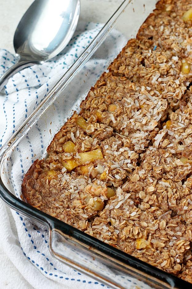 Tropical Oatmeal Breakfast Bake | Fabtastic Eats