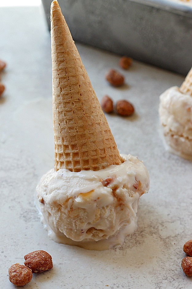 Salted Caramel Toffee Coconut Ice Cream | Fabtastic Eats
