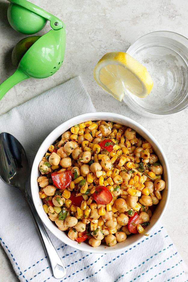 Chili-Lime Chickpea Salad | Fabtastic Eats