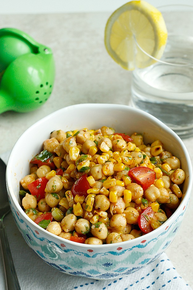 Chili-Lime Chickpea Salad | Fabtastic Eats