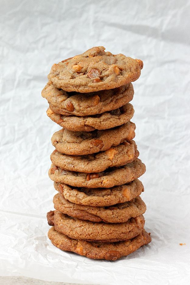 Brown Butter Cinnamon Butterscotch Cookies   Fabtastic Eats