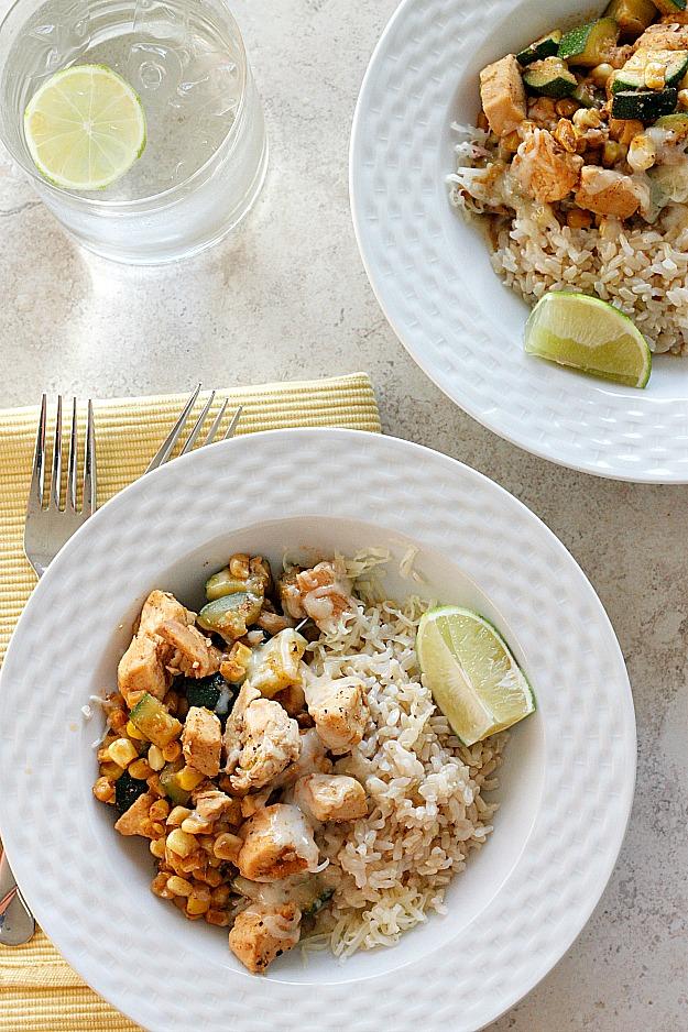 Chicken, Zucchini, & Corn Saute {30 Minute Meal!}   Fabtastic Eats