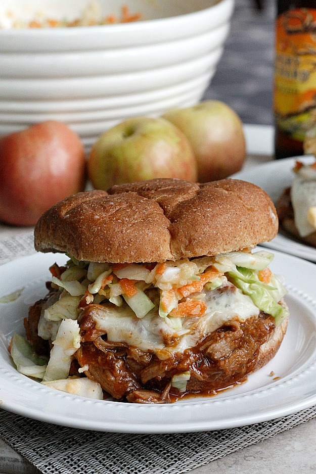 BBQ Apple Pulled Pork Sandwiches | Fabtastic Eats