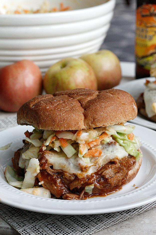 BBQ Apple Pulled Pork Sandwiches | Fabtastic Eats
