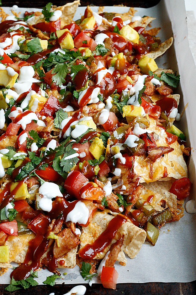 (Seriously loaded!) BBQ Chicken Nachos | Fabtastic Eats