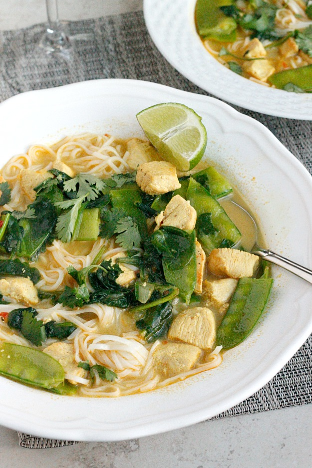 Coconut Curry Chicken Soup | Fabtastic Eats