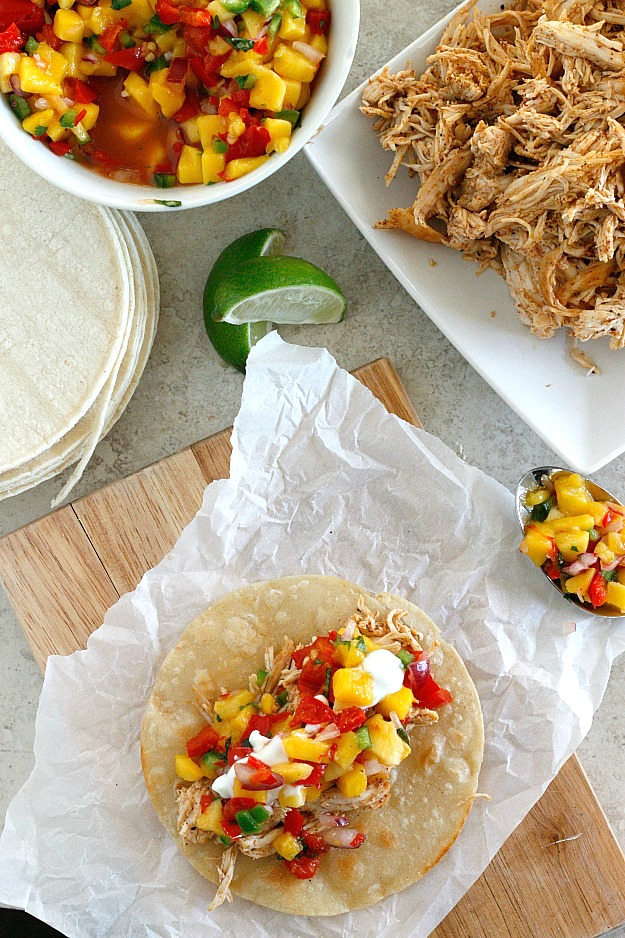 Hot Pepper and Mango Chicken Tacos | Fabtastic Eats