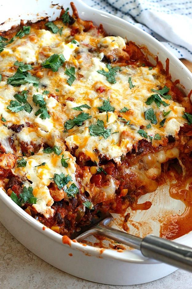 Mexican Lasagna | Fabtastic Eats