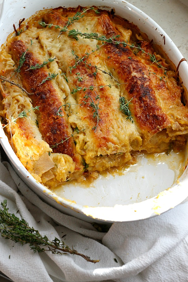 Apple, Pumpkin, and Spicy Sausage Lasagna | Fabtastic Eats