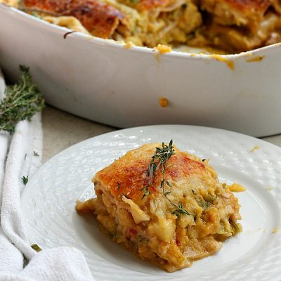 Apple, Pumpkin, and Spicy Sausage Lasagna