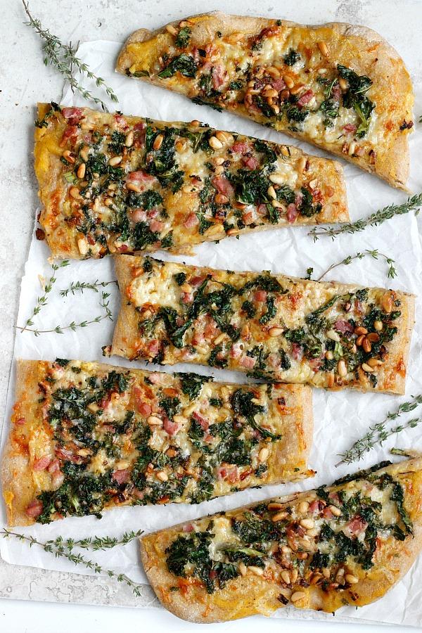 Pancetta, Kale, & Pumpkin Flatbread| Fabtastic Eats