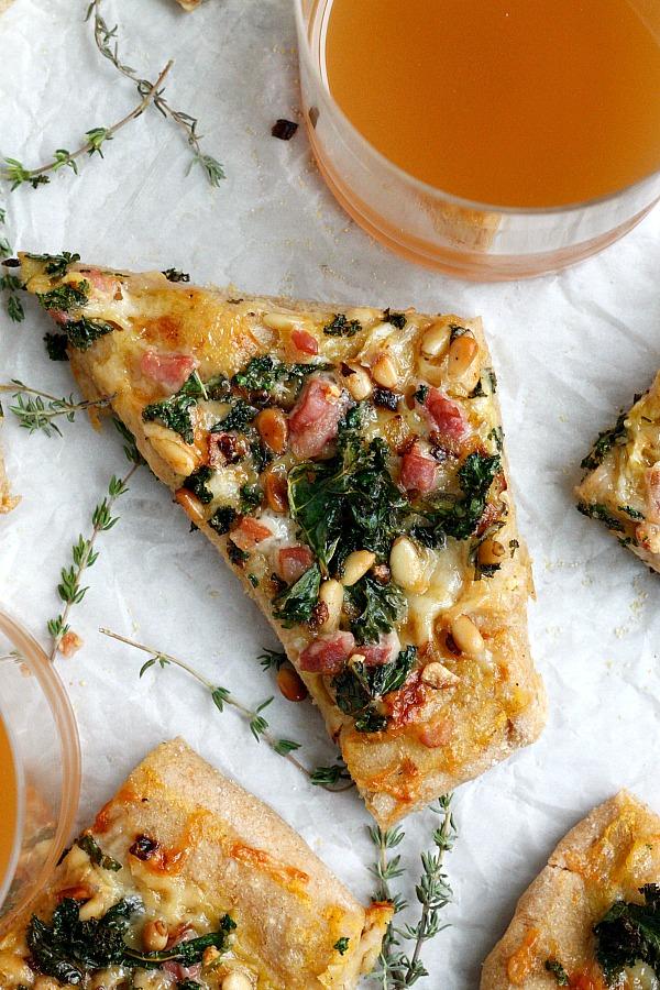 Pancetta, Kale, & Pumpkin Flatbread  Fabtastic Eats