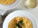 Butternut Squash Risotto with Pancetta and Brussels Sprouts | Fabtastic Eats