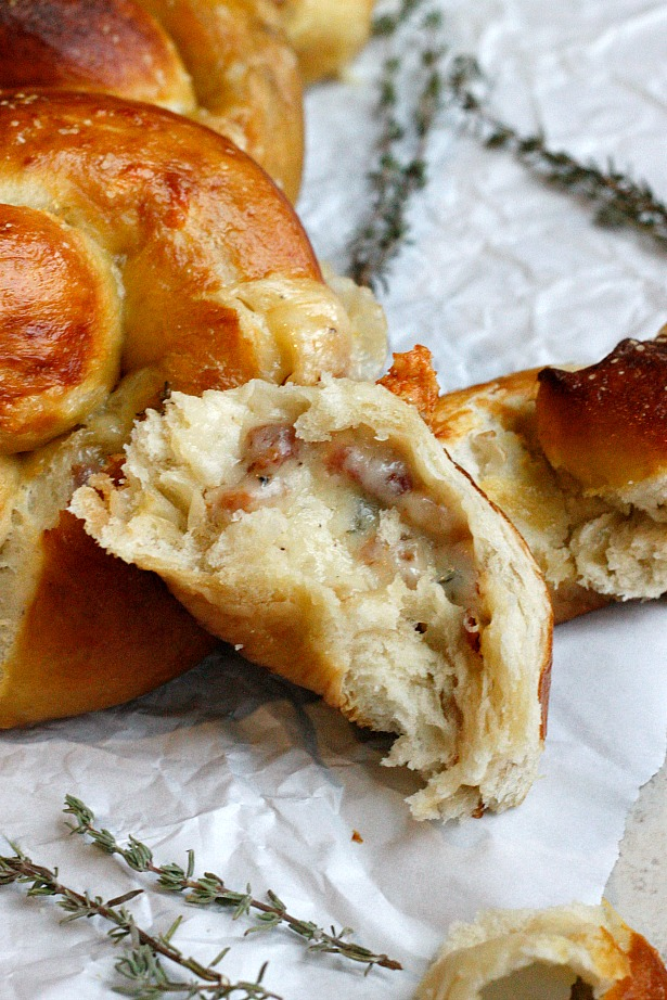 Three Cheese Pancetta Stuffed Pretzels | Fabtastic Eats