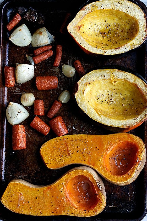 Indian Spiced Roasted Squash Soup with Curried Chickpeas | Fabtastic Eats