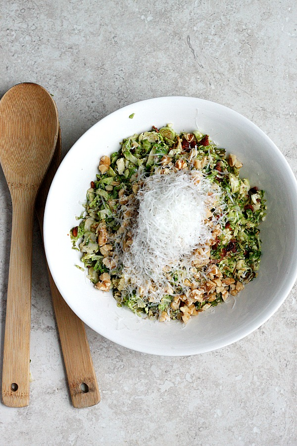 Warm Brussels Sprouts and Bacon Salad | Fabtastic Eats