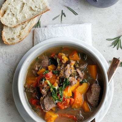 Butternut Squash and Kale Beef Stew