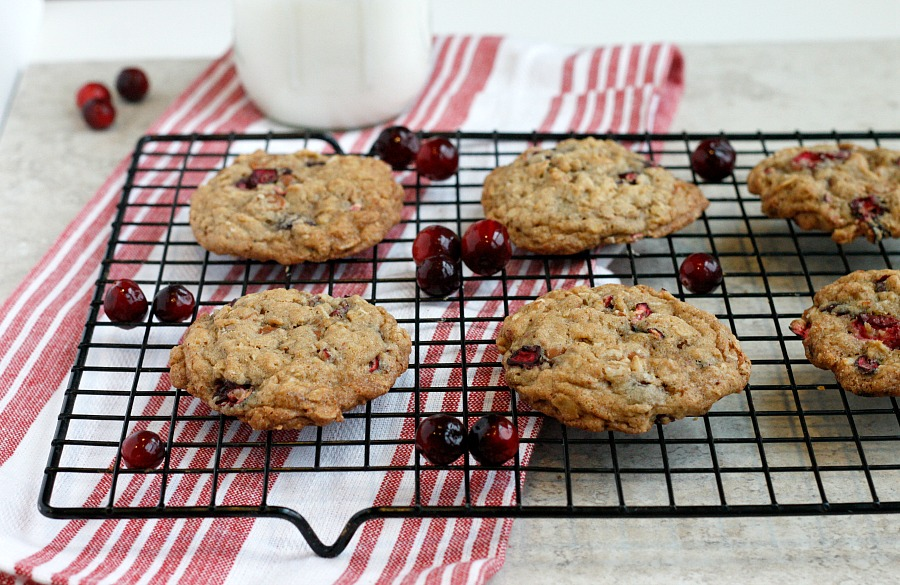 Cinnamon Cranberry Oatmeal Cookies | Fabtastic Eats