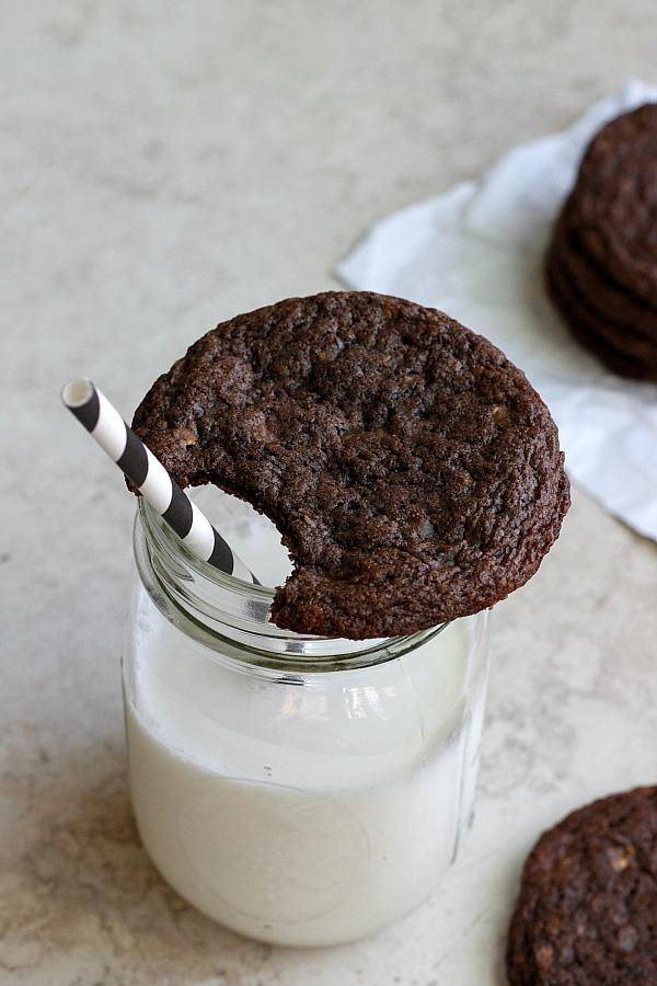 Toffee Nutella Cookies   Fabtastic Eats