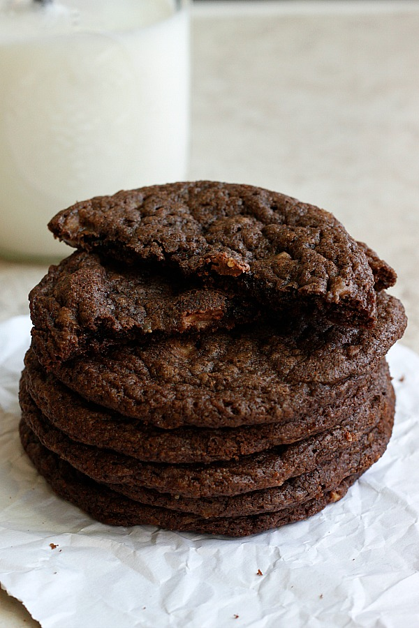 Toffee Nutella Cookies | Fabtastic Eats