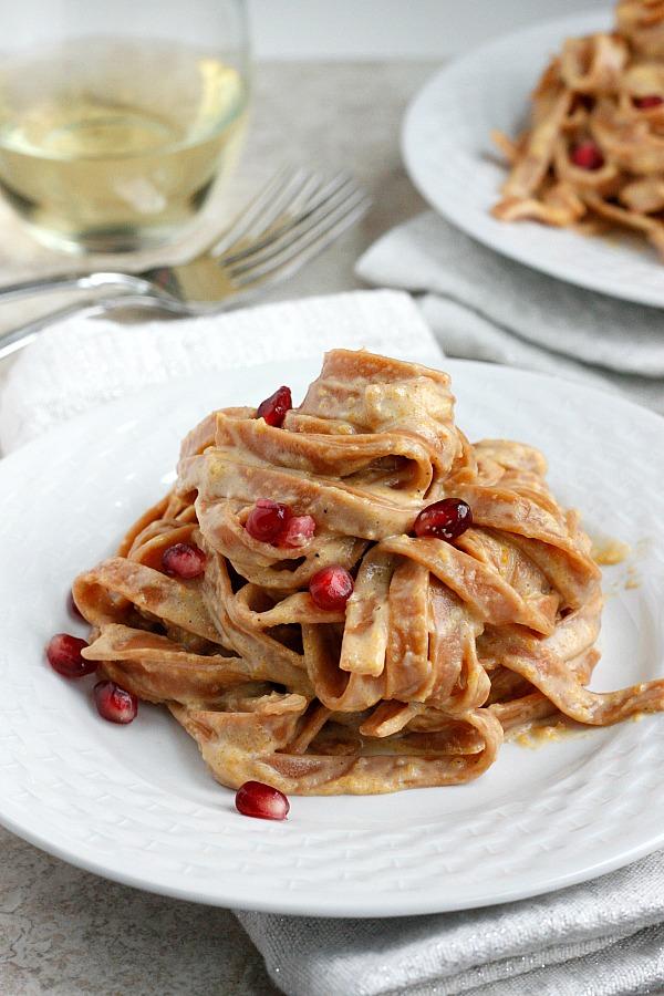 Chipotle Butternut Squash Alfredo | Fabtastic Eats