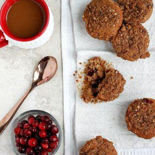 Cranberry Eggnog Muffins | Fabtastic Eats