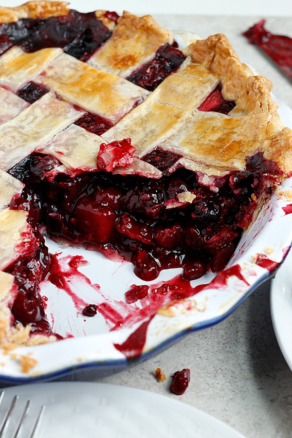 Cranberry and Mixed Berry Pie | Fabtastic Eats