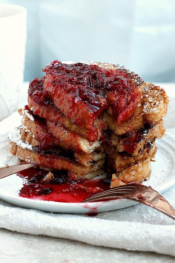 Cranberry Eggnog French Toast | Fabtastic Eats